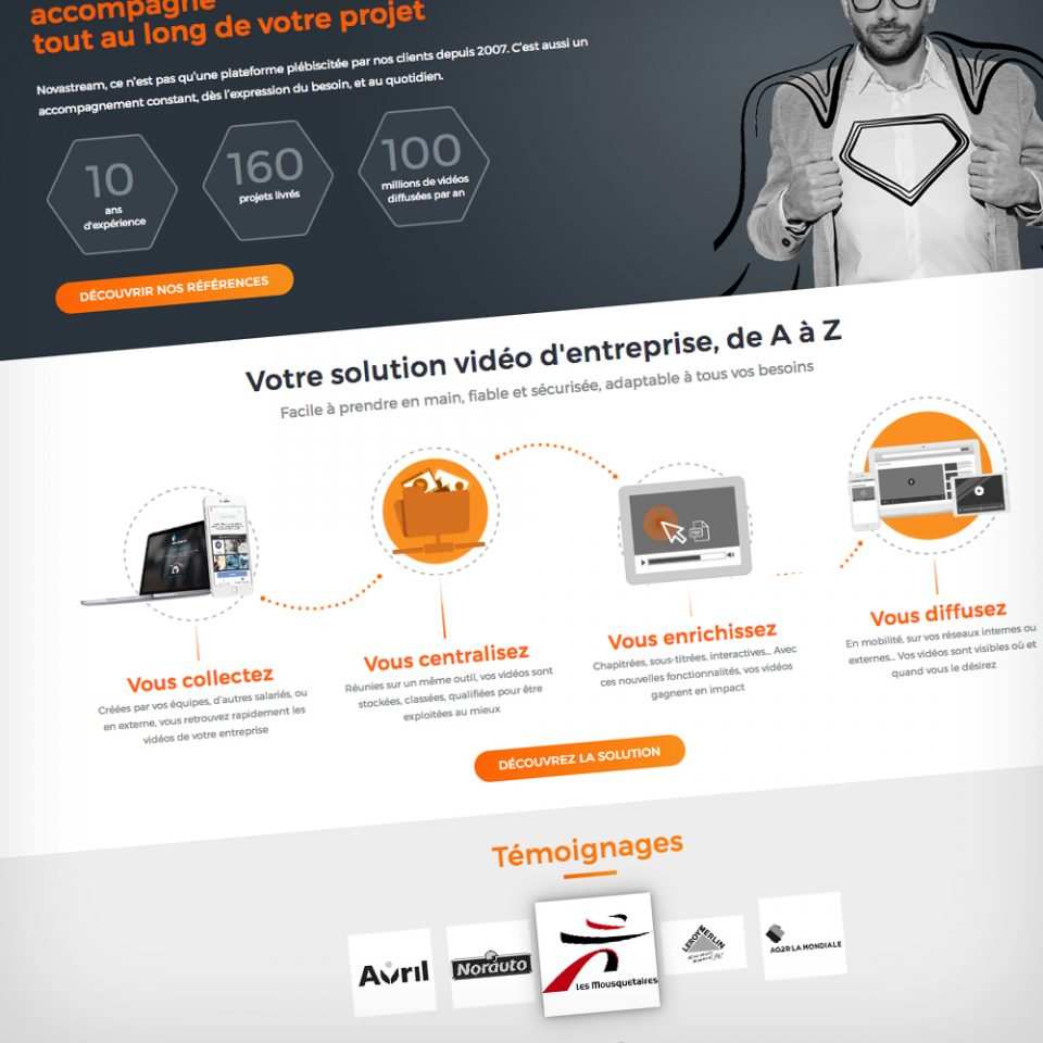 Rédaction site Web Novastream
