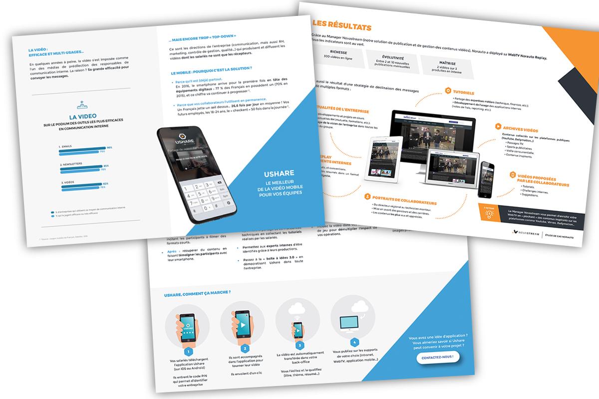 Exemple d'argumentaires et documents commerciaux pour Novastream