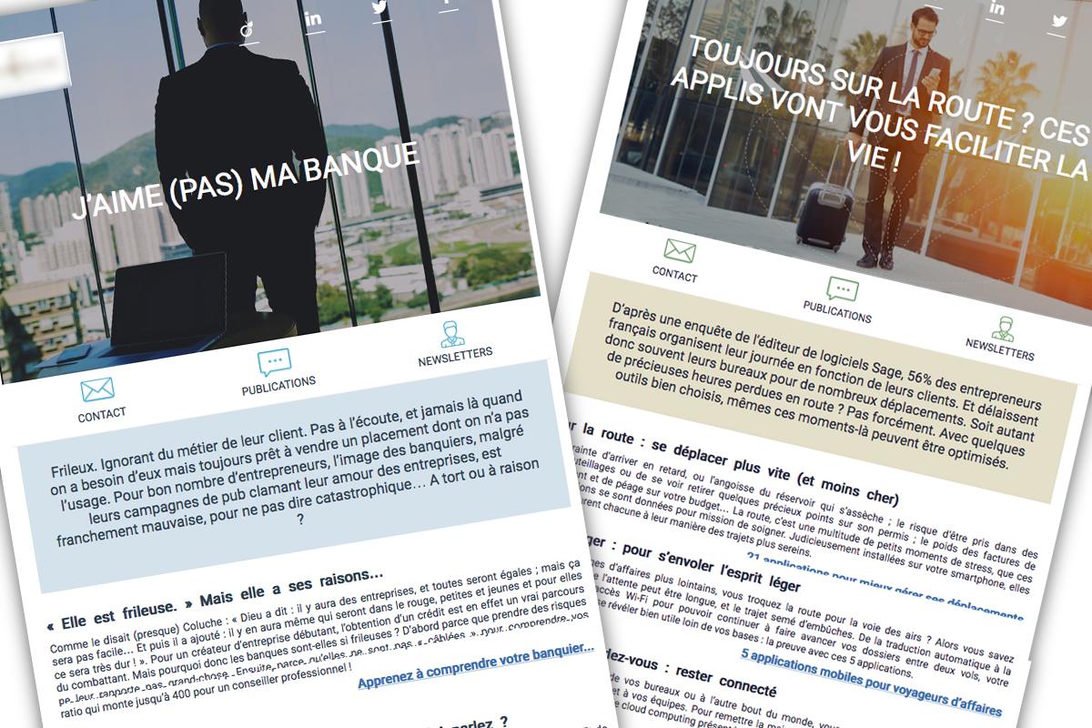Exemples de newsletters B2B MyPassPro