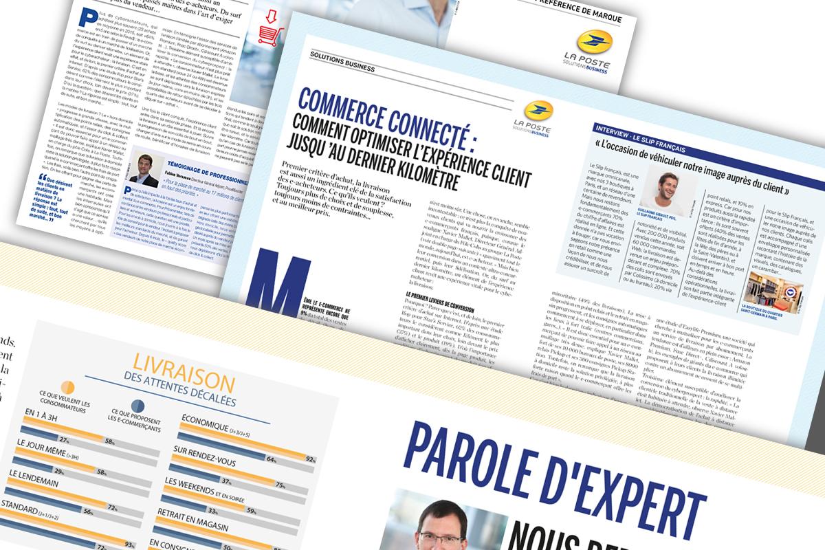 Publi-rédactionnels print La Poste