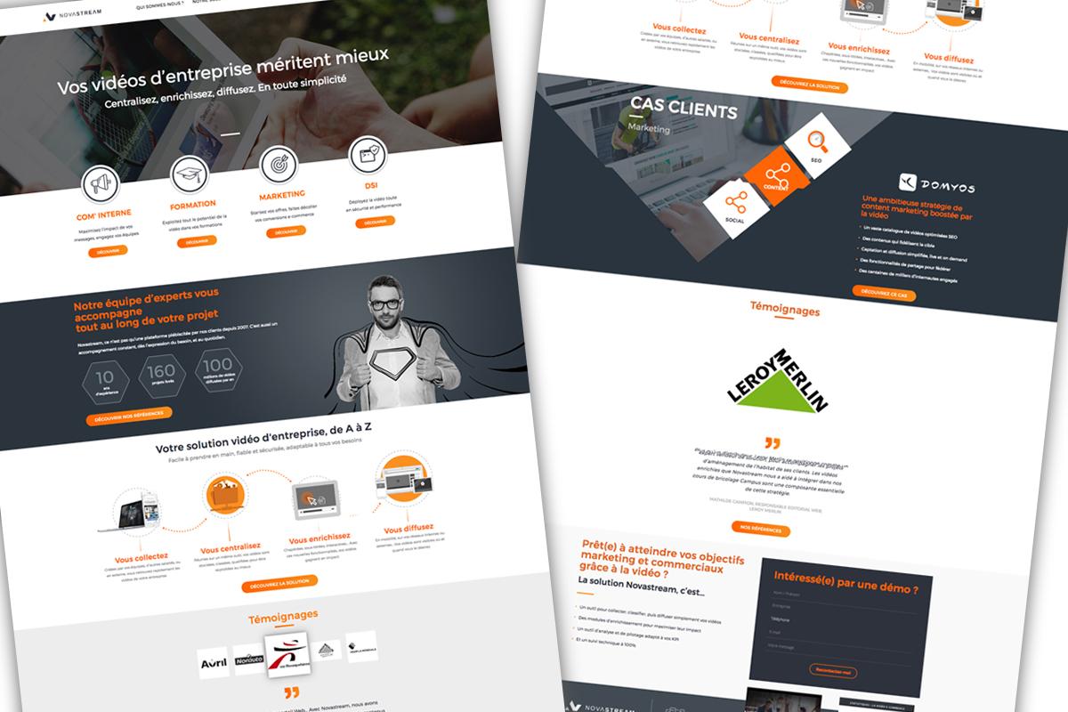 Exemples de rédaction Web et contenus UX pour Novastream